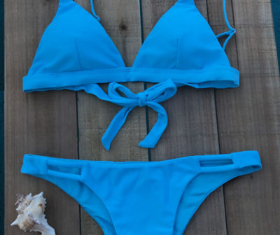 NEON Blue Bikini Set - Key Swimwear luxury Eco Friendly Bikinis
