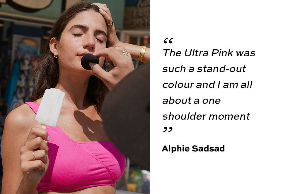 """The Ultra Pink was such a stand-out colour and I am all about a one shoulder moment""."