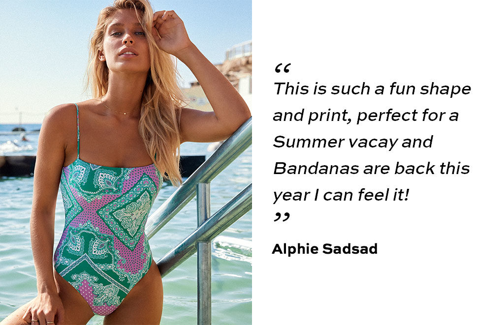 """This is such a fun shape and print, perfect for a Summer vacay and Bandanas are back this year I can feel it! """