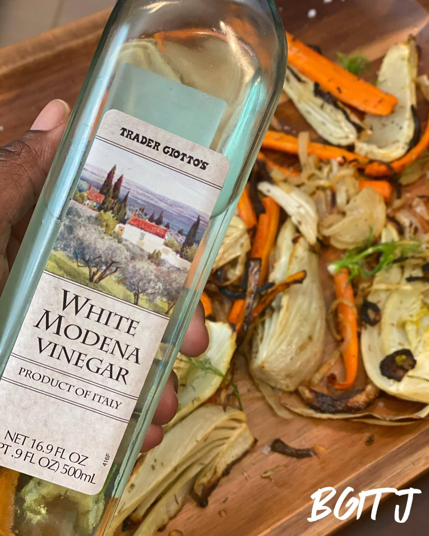 Roasted Fennel & Carrots with White Balsamic Vinaigrette Dressing from @blackgirlsintraderjoes
