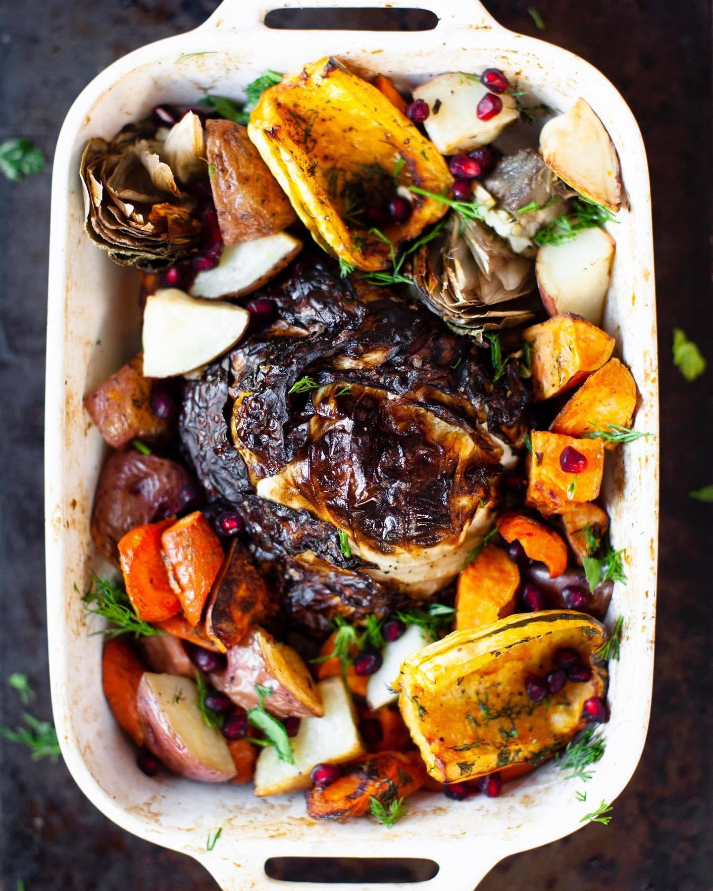 "Cabbage ""Turkey"" recipe from @sweetpotatosoul"