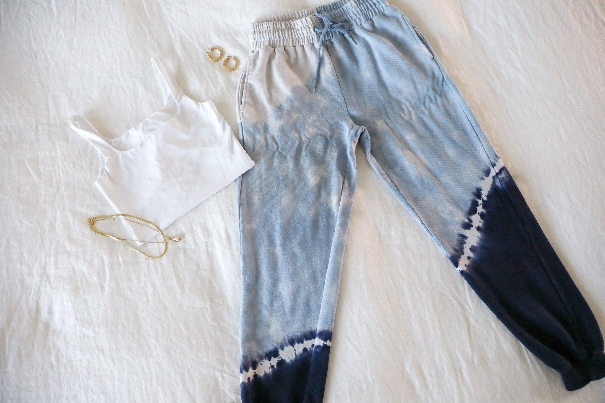 LSPACE sweatpants flat lay