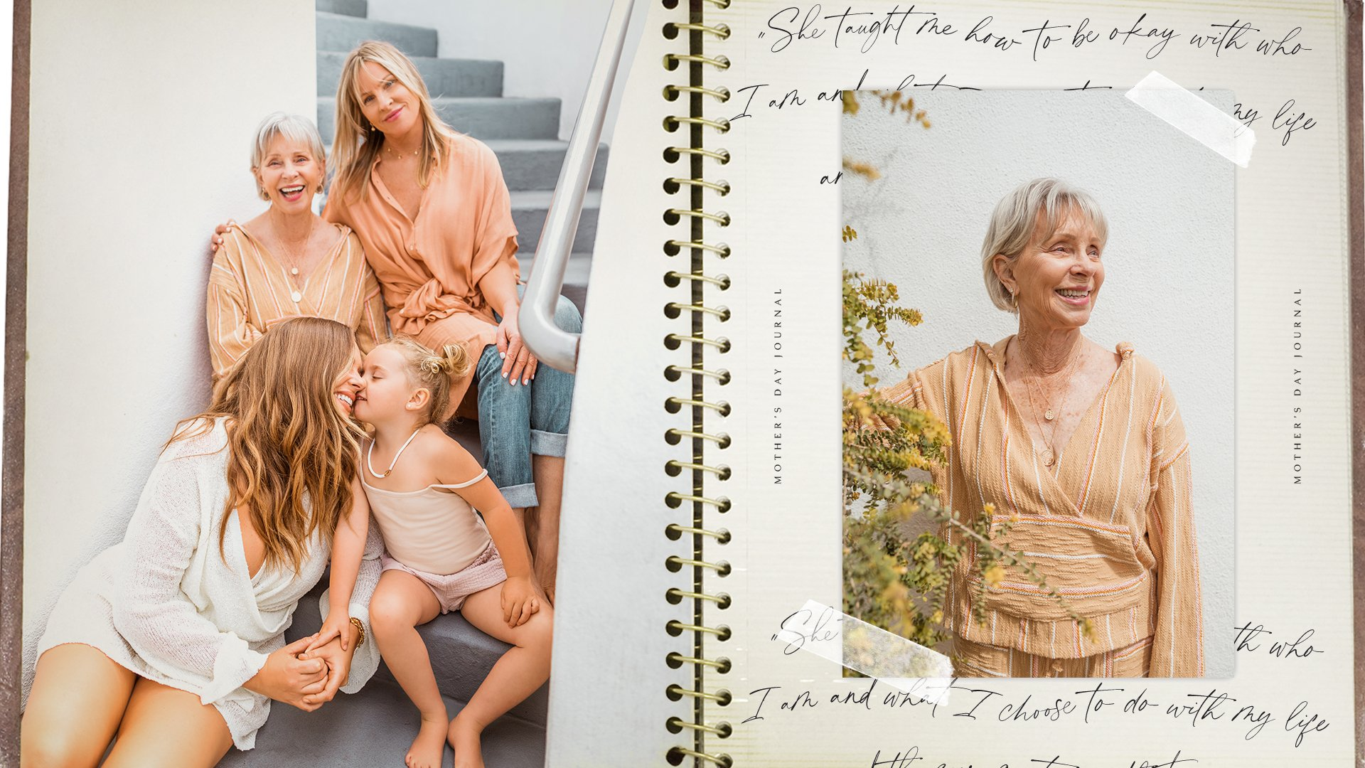 scrapbook with images of women