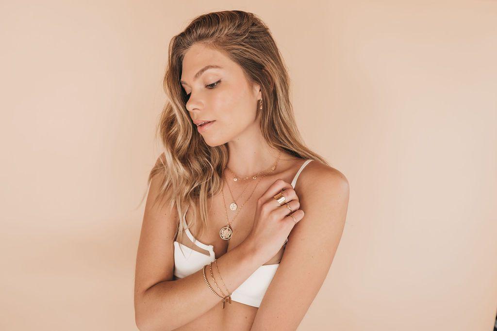 a woman posing