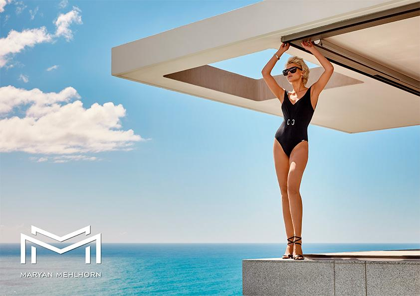 Maryan Mehlhorn Jet Set Square Neck Swimsuit